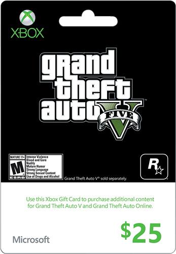 Microsoft - $25 Xbox Gift Card - Black