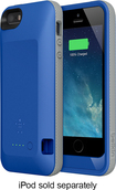 Belkin - Grip Power Battery Case for Apple® iPhone® 5 and 5s - Civic Blue/Stone