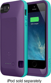 Belkin - Grip Power Battery Case for Apple® iPhone® 5 and 5s - Purple Lightning/Fountain Blue