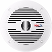 "Boss Marine - 6-1/2"" 2-Way Coaxial Marine Speakers with Polypropylene Cones (Pair) - White"