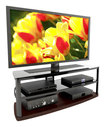 "Sonax - TV Stand for TVs Up To 60"" - Black/Gunmetal"