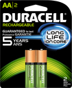 Duracell - Rechargeable AA Batteries (2-Pack) - Green