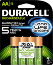 Duracell - Rechargeable AA Batteries (4-Pack) - Green
