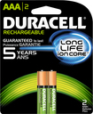 Duracell - Rechargeable AAA Batteries (2-Pack) - Green