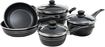 Gibson - Eastmont Collection 8-Piece Cookware Set - Black