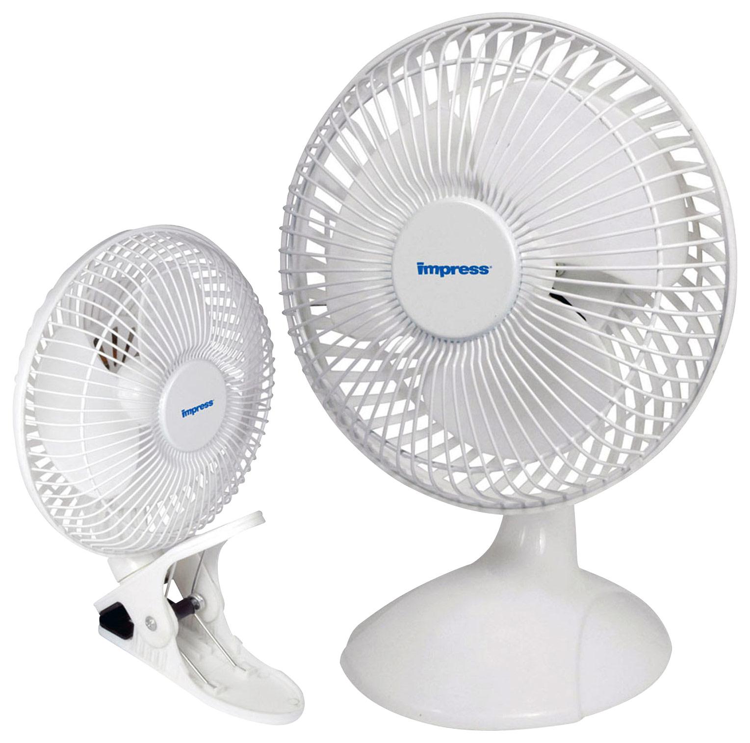Impress - 6 Dual Purpose Fan - White