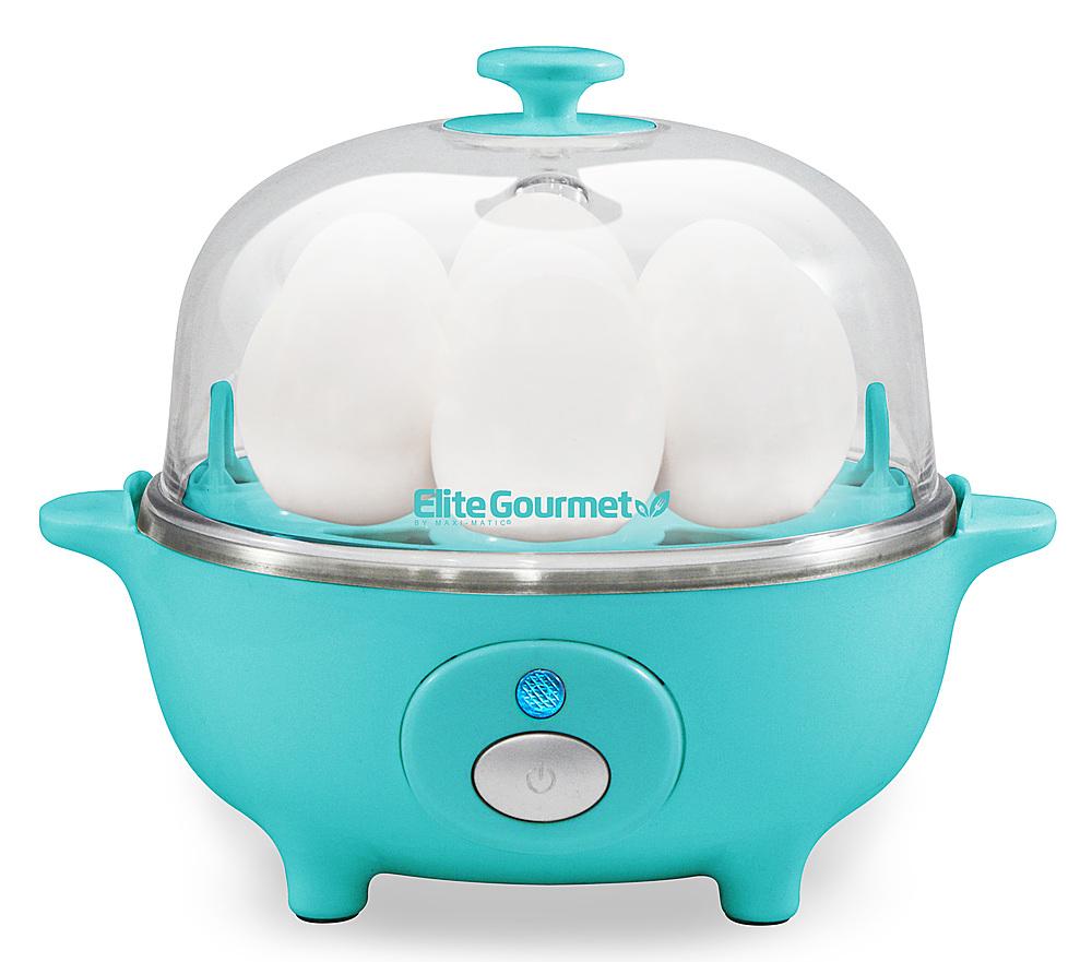 Elite Cuisine - 7-Egg Automatic Egg Cooker - Turquoise