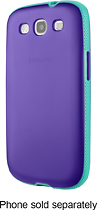 Belkin - Grip Candy Case for Samsung Galaxy S III Cell Phones - Purple/Jade