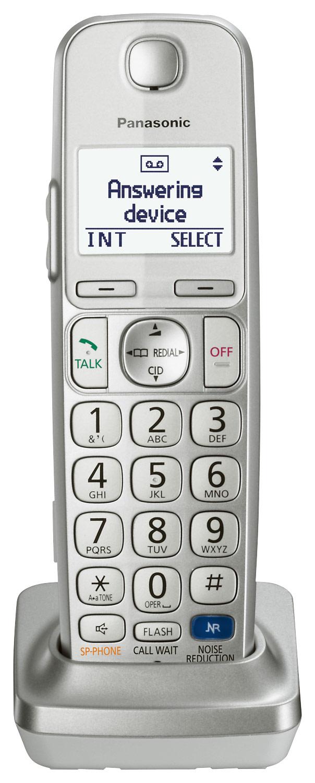 Panasonic - KX-TGEA20S Dect 6.0 Cordless Expansion Handset - Silver