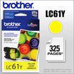 Brother - LC61Y Ink Cartridge - Yellow