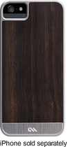 Case-Mate - Crafted Woods Collection Case for Apple® iPhone® 5 and 5s - Rosewood/Silver
