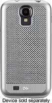 Case-Mate - Carbon Fiber Collection Case for Samsung Galaxy S 4 Cell Phones - Silver