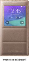 Samsung - S-View Flip Cover for Samsung Galaxy Note 4 Cell Phones - Bronze Gold
