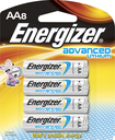 Energizer - Advanced Lithium AA Batteries (8-Pack) - Silver