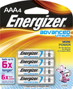 Energizer - Advanced Lithium AAA Batteries (4-Pack) - Silver