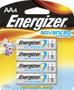 Energizer - Advanced Lithium AA Batteries (4-Pack) - Silver