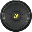 "Kicker - CompS 12"" Single-Voice-Coil 2-Ohm Subwoofer - Black"