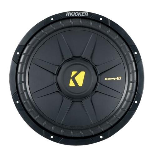 """Kicker - CompS 15"""" Single-Voice-Coil 4-Ohm Subwoofer - Black"""