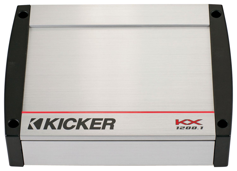 Kicker - KX Series 1200W Class D Mono Amplifier with Built-in Crossovers - Silver