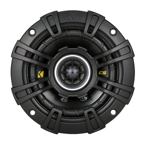 Kicker - CS44 4 Coaxial Car Speakers with Polypropylene Cones (Pair) - Black