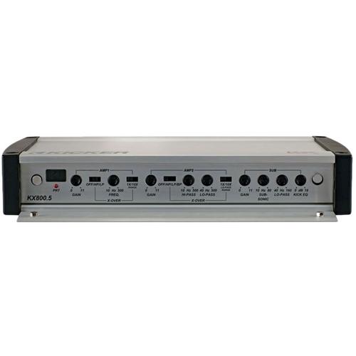 Kicker - KX Series 800W Class D Bridgeable Multichannel Amplifier with Built-in Crossovers - Gray