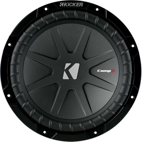 Kicker - CompR 10 Dual-Voice-Coil 4-Ohms Subwoofer - Black