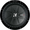 "Kicker - CompR 10"" Dual-Voice-Coil 4-Ohm Subwoofer - Black"