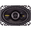 "Kicker - CS464 4"" x 6"" Coaxial Car Speakers (Pair) - Black"