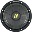 "Kicker - CompS 8"" Single-Voice-Coil 2-Ohm Subwoofer - Black"