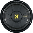 "Kicker - CompS 10"" Single-Voice-Coil 2-Ohm Subwoofer - Black"