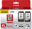 Canon - PG-245XL/CL-246XL/GP-502 2-Pack High-Yield Ink Cartridges - Black/Multi