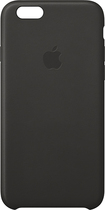 Apple® - Leather Case for Apple® iPhone® 6 - Black