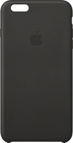 Apple® - Leather Case for Apple® iPhone® 6 Plus - Black