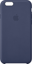 Apple® - Leather Case for Apple® iPhone® 6 - Dark Blue
