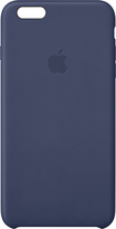 Apple® - Leather Case for Apple® iPhone® 6 Plus - Dark Blue