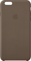 Apple® - Leather Case for Apple® iPhone® 6 Plus - Brown