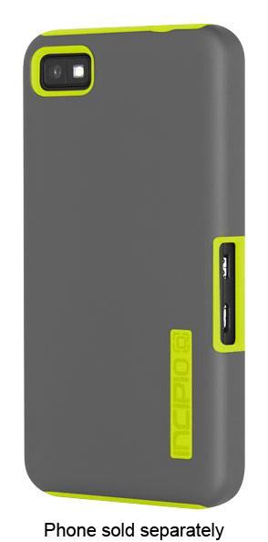 Incipio - Dualpro Hard Shell Case For Blackberry Z10 Cell Phones - Gray/neon Yellow