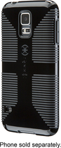Speck - CandyShell Grip Case for Samsung Galaxy S 5 Cell Phones - Black/Dark Gray