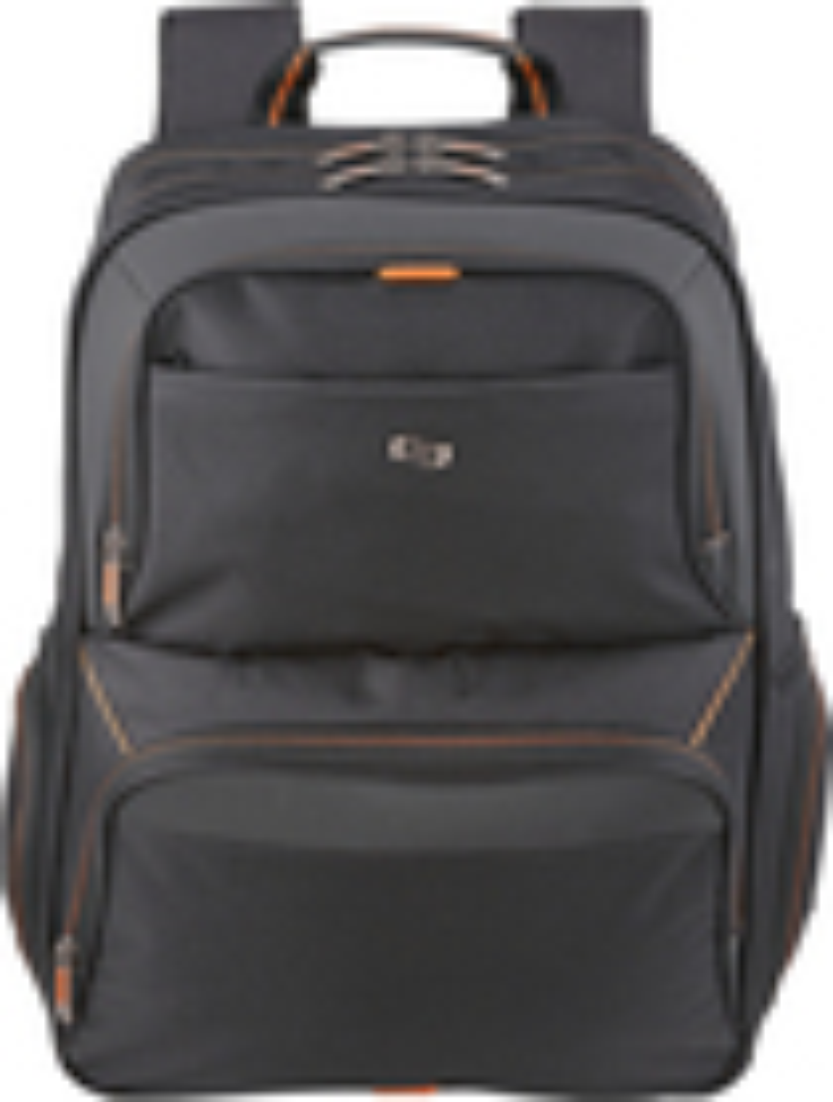 Solo - Urban Laptop Backpack - Black/Orange