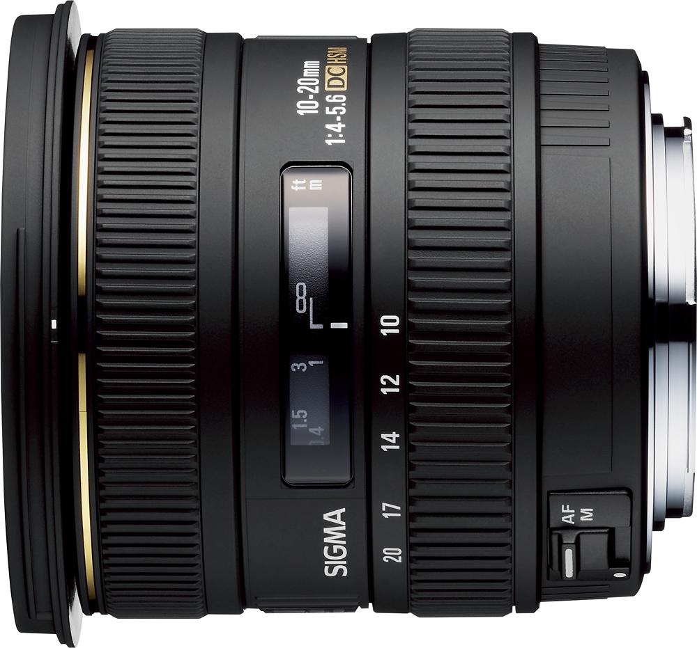 Sigma - 10-20mm f/4-5.6D EX DC HSM AF Lens for Nikon Digital SLR Cameras - Black