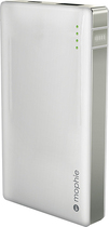 mophie - Juice Pack Powerstation Mini Rechargeable External Battery for Most Micro USB Devices - White