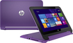 "HP - Pavilion x360 2-in-1 11.6"" Touch-Screen Laptop - Intel Pentium - 4GB Memory - 500GB Hard Drive - Neon Purple"