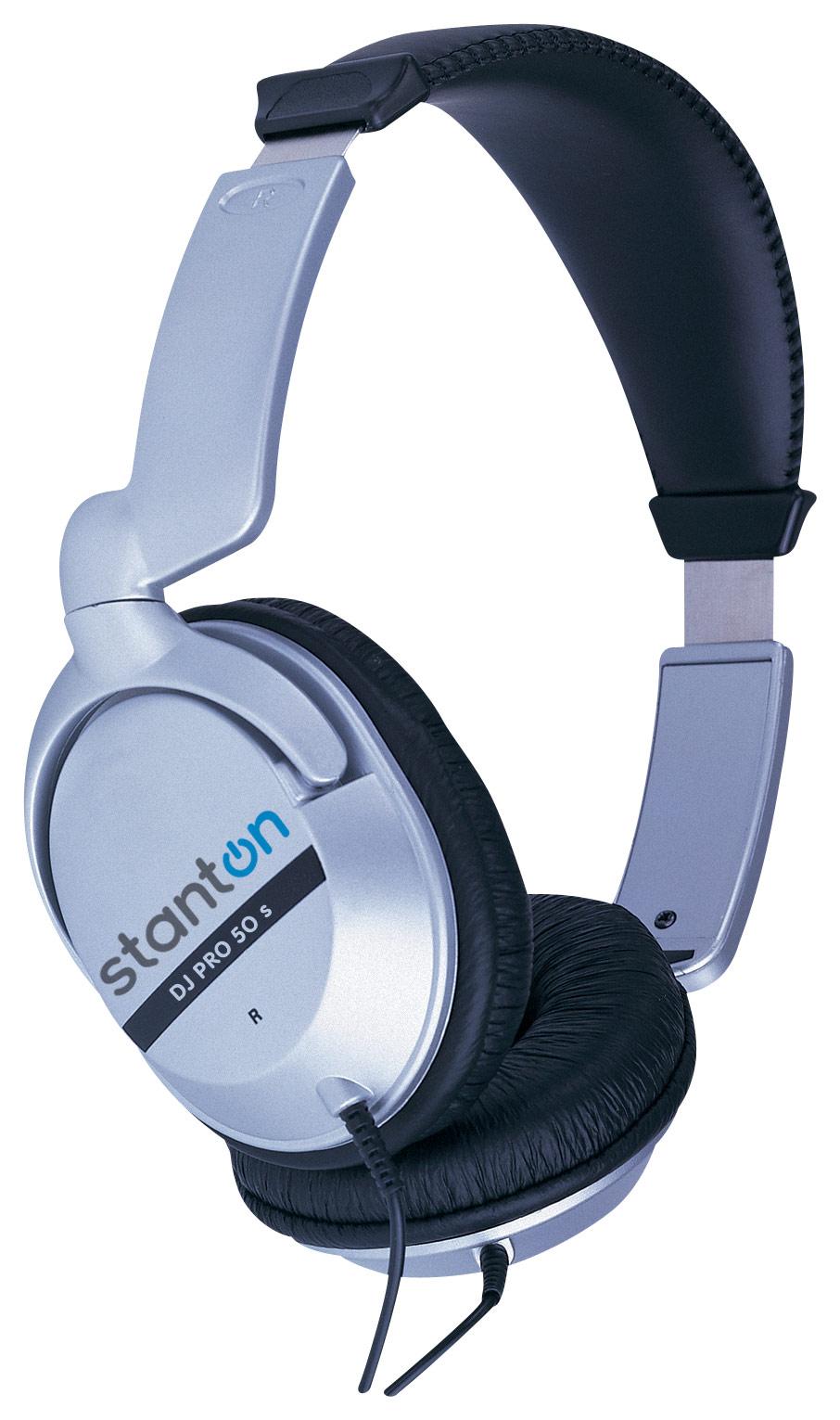 Stanton - DJ PRO 50S Over-the-Ear Headphones - Silver/Black