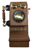 Telemania - GOLD-GEE-8705K Golden Eagle Country Wood Telephone - Oak