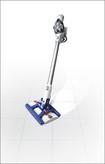 Dyson - DC56 Hard Floor Wet/Dry Bagless Cordless Handheld/Stick Vacuum - Blue