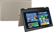"Toshiba - Satellite Radius 11.6"" Touch-Screen Laptop - Intel Celeron - 4GB Memory - 500GB Hard Drive - Satin Gold"