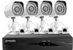 Zmodo - 4-Channel, 4-Camera Indoor/Outdoor High Definition Security System