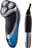 Philips Norelco - Shaver 4100 Bonus Pack - Black/Blue