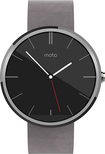 Motorola - Moto 360 23mm Smartwatch for Android Devices 4.3 or Higher - Stone Leather