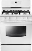 "Samsung - 30"" Self-Cleaning Freestanding Gas Range - Stainless-Steel/White"
